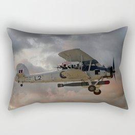 Stringbag Salute - (Swordfish Torpedo Bomber) Rectangular Pillow