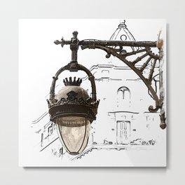 Gothic Street Lantern Metal Print