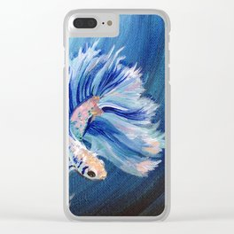 Feathery Fins Clear iPhone Case