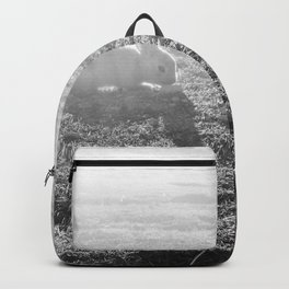 Bunny // Black and White Cute Nursery Photograph Adorable Baby Bunnies in the Field Backpack