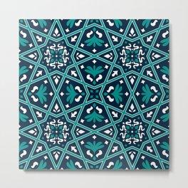 Arabesque Flowery Decorative Design  Metal Print