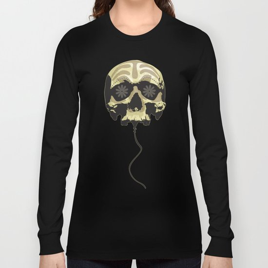 Balloon skull Long Sleeve T-shirt