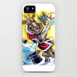 Krampus has a Snow Day iPhone Case