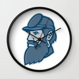 General Stonewall Jackson Mascot Wall Clock