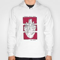 house of cards Hoodies featuring House of Cards in Red  by Art by Alexandra