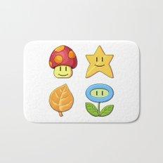 Mushroom Star Leaf Flower Bath Mat