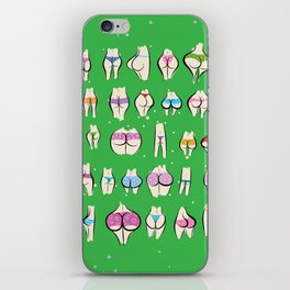 UNDERPANTS Green iPhone Skin