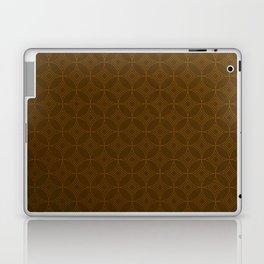 Chocolate Brown Moroccan Geometric Pattern Laptop & iPad Skin