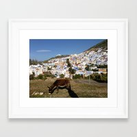 donkey Framed Art Prints featuring Donkey by Colleenmary