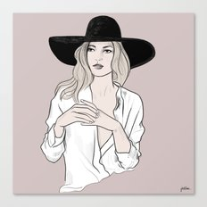 Fashion icon - Kate Moss inspired illustration Canvas Print