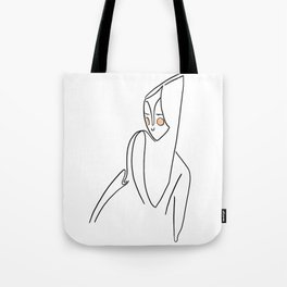 The look on her face Tote Bag