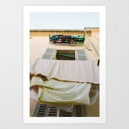 Cannes Laundry Art Print