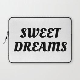 Sweet Dreams in Cursive in Black Laptop Sleeve