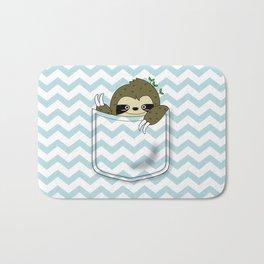 sloth in my pocket Bath Mat