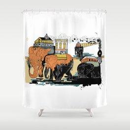 Oiliphants Shower Curtain