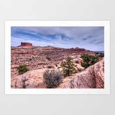 Monitor Butte on the Colorado Plateau Art Print