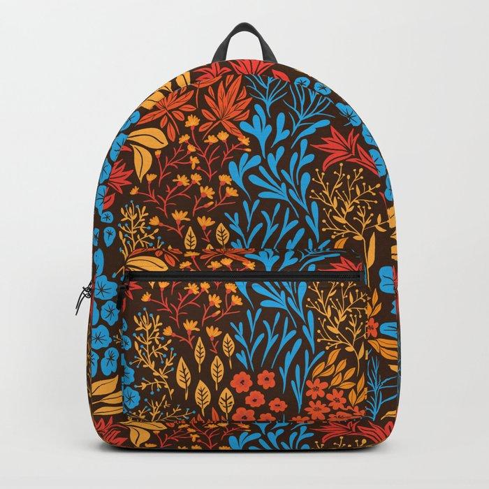 Floral doodles dark Backpack