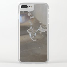 Water Fountain Clear iPhone Case