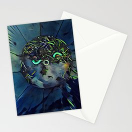 Moon Bug Glow in a Bucket by CheyAnne Sexton Stationery Cards