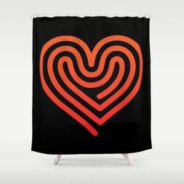 Hot Heart Shower Curtain