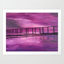Sunset on the Hackensack River Art Print