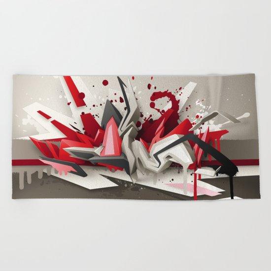 Red Metal Beach Towel