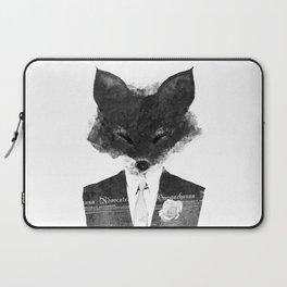 minima - dapper fox   noir Laptop Sleeve