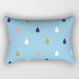 Happy rain drops Rectangular Pillow