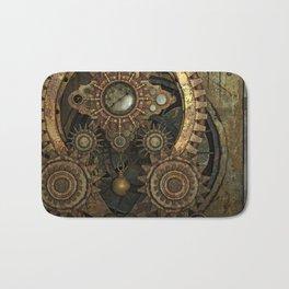 Rusty Vintage Steampunk Gears Bath Mat
