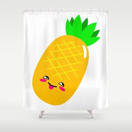 Animated Pineapple Shower Curtain