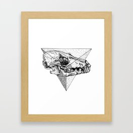 Triangle Sceleton Framed Art Print
