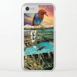 Tropical Bird Clear iPhone Case