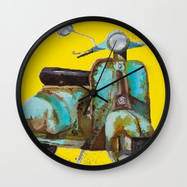Rustic scooter Wall Clock