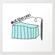 Out the pen logo Art Print