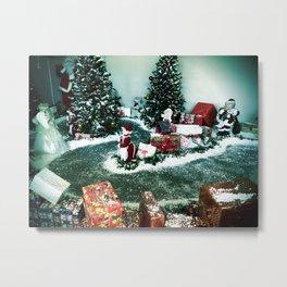 Santas Helpers In The Christmas Display Metal Print