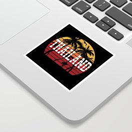 Thailand Palm Tree Holiday Motif Gift Idea Design Sticker