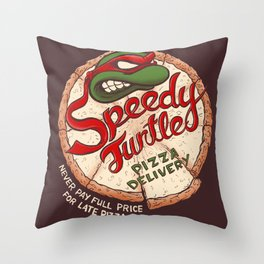 Speedy Turtles Throw Pillow