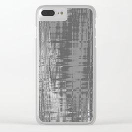 Grey Wavelengths Clear iPhone Case