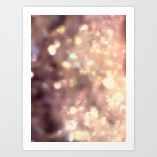 Glitters in your Heart  - JUSTART ©, digital art.    Art Print