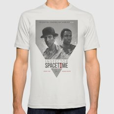 Inspector Spacetime  Mens Fitted Tee Silver 2X-LARGE