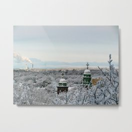 Portland, Maine Winter Wonderland Metal Print