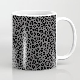 LEOPARD PRINT in Black & Gray / Collection : Leopard spots – Punk Rock Animal Print Coffee Mug