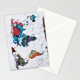 map of the world  Stationery Cards
