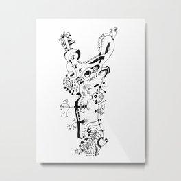 #4 Metal Print
