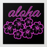 aloha Canvas Prints featuring ALoha  by Lonica Photography & Poly Designs