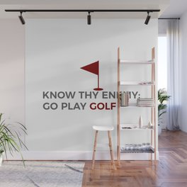Know Thy Enemy Play Golf Strategy Wall Mural