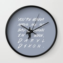 Daryl Dixon and Beth Greene Wall Clock