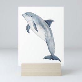 Bottlenose dolphin jump Mini Art Print