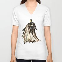 steam punk V-neck T-shirts featuring Batbot- Steam Punk  by Chien-Yu Peng