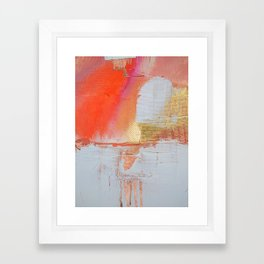 Insight: a minimal, abstract painting in reds and golds by Alyssa Hamilton Art Framed Art Print